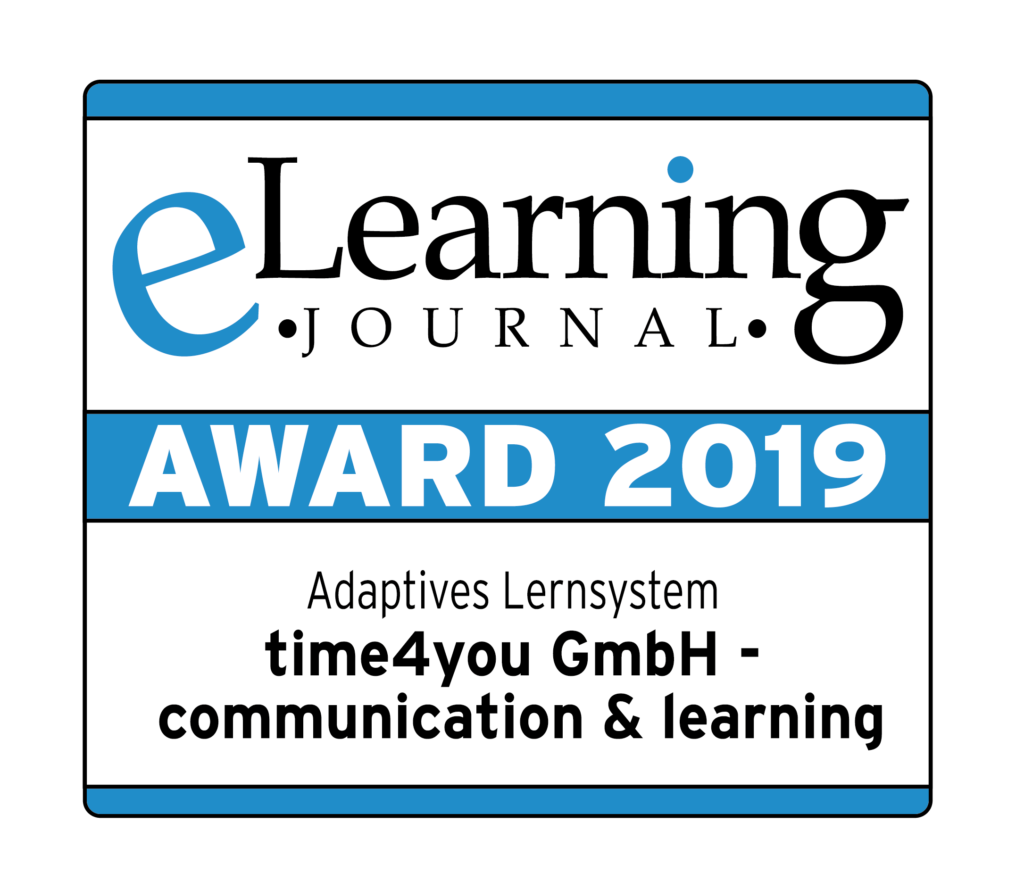 eLearning Journal e-learning Award 2019